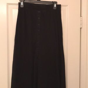 Whole Foods maxi skirt with front slit
